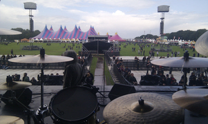 Linecheck at Graspop - the view from the kit
