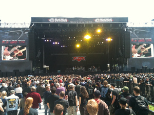 FM live on stage at Graspop 24 June 2011
