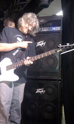 A very happy Merv with his new Peavey rig