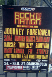 FM Loreley 25 June 2011 Rock The Nation festival poster