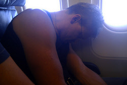 FM's Jem finally gets some sleep on the plane