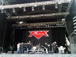 FM line check at Sweden Rock 09 June 2011