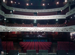 View of the historic London Shepherd's Bush Empire from the stage front