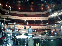 FM London Shepherd's Bush Empire 23 March 2013 - view from the drumkit