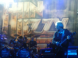 Merv shares the stage with Thin Lizzy