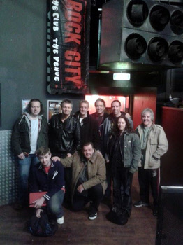 VIP Pledgers Peter, Celandine, Adrian & Sam with FM - Nottingham Rock City 09 December 2012