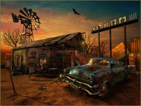The Abandoned Gas Station by Vladimir Petkovic