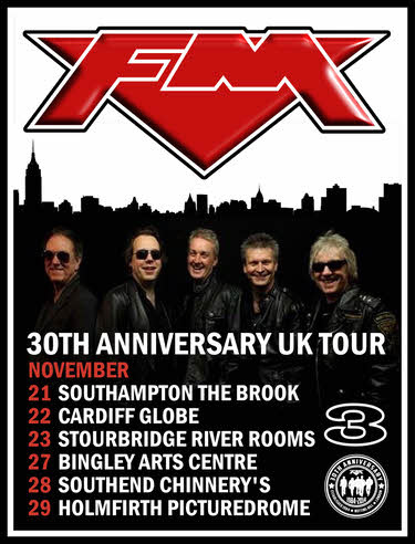FM - 30th Anniversary Tour dates poster