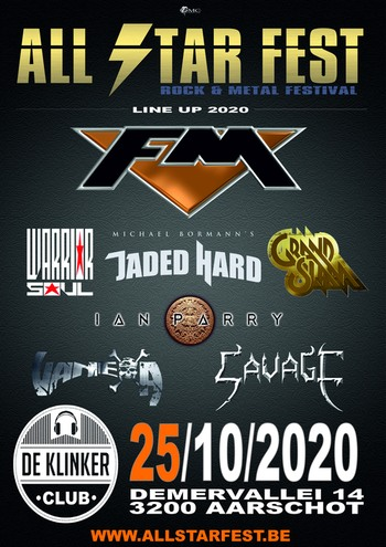 FM at All Star Fest Belgium 25 Oct 2020 - poster