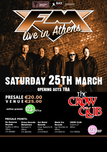 FM - Athens - Crow Club - Greece - 25 March 2017 - poster
