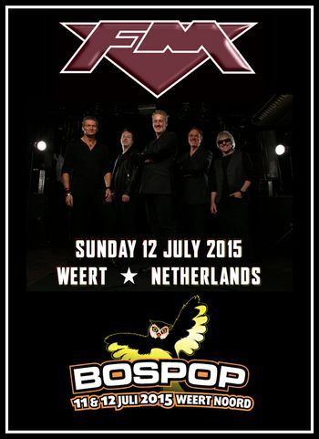 FM at Bospop festival 12 July 2015 poster