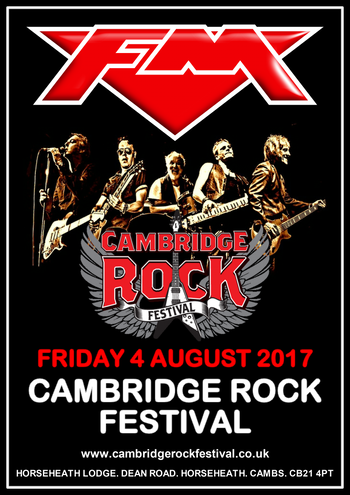 FM - Cambridge Rock Festival - 4 August 2017 - poster