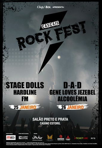 FM at Cascais Rock fest - Portugal - 25 Jan 2019