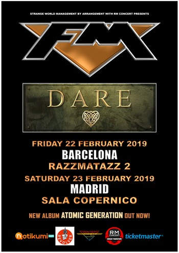 FM + Dare live in Spain 2019 - poster