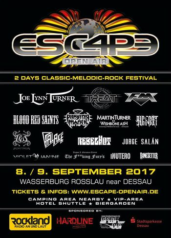 FM at Escape Open Air - Germany - 9 Sept 2017 -  poster