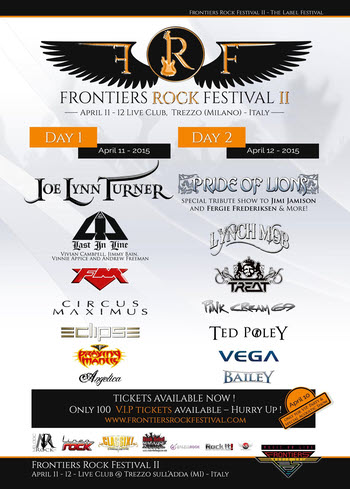 FM at Frontiers Rock Festival 2015 poster