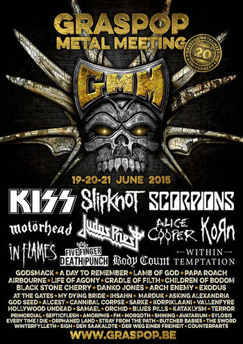 FM at Graspop Metal Meeting 2015 poster
