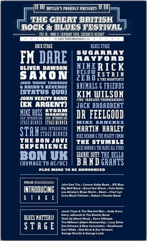 FM at Great British Rock and Blues Festival - 18 January 2019 - poster