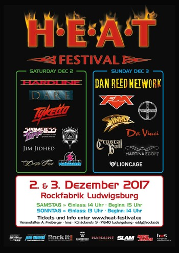 FM at H.E.A.T. Festival - Germany - 3 Dec 2017 - poster