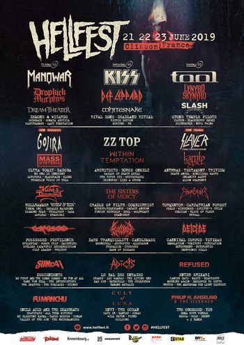 FM at Hellfest - 22 June 2019 - poster