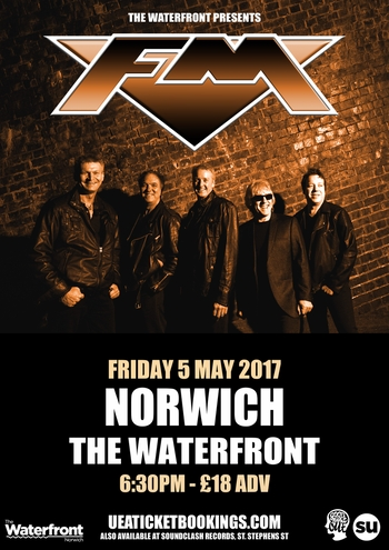 FM at Norwich Waterfront - 5 May 2017 - poster