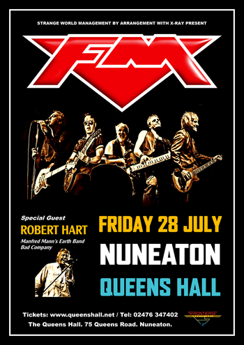 FM - Nuneaton Queens Hall - 28 July 2017 - poster