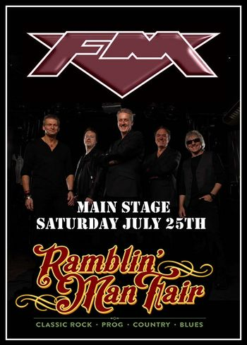 FM at Ramblin' Man Fair - 25 July 2015 - poster