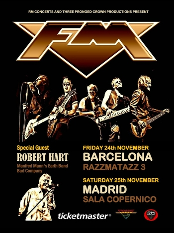FM and Robert Hart - live - Barcelona - Madrid - 24/25 Nov 2017 - poster