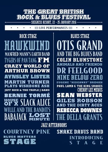 FM at Great British Rock & Blues Festival 23 January 2016 poster