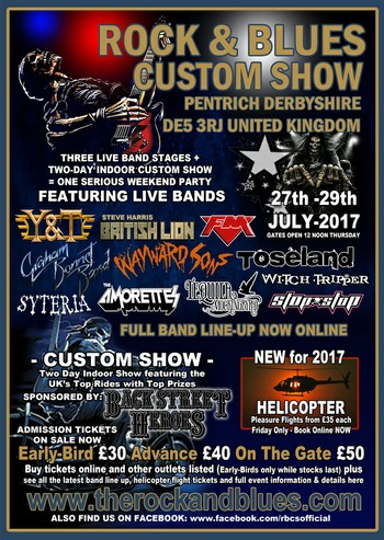FM - Pentrich Rock & Blues Custom Show - July 2017 - poster