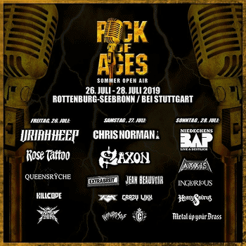 FM at Rock of Ages festival - Germany - 27 July 2019 - poster