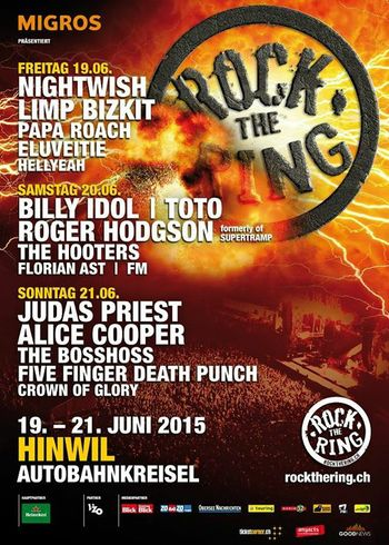 FM at Rock The Ring Switzerland - 20 June 2015