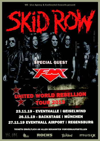 Skid Row + FM - Germany November 2019 - poster