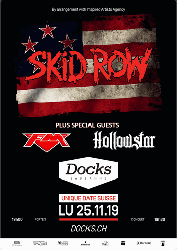 Sid Row + FM + Hollowstar - Lausanne Les Docks - 25 November 2019 - poster