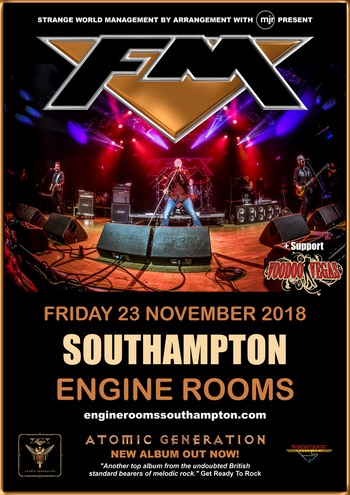 FM + Voodoo Vegas at Southampton Engine Rooms - 23 Nov 2018 - poster