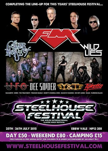 FM at Steelhouse Festival 26 July 2015 poster