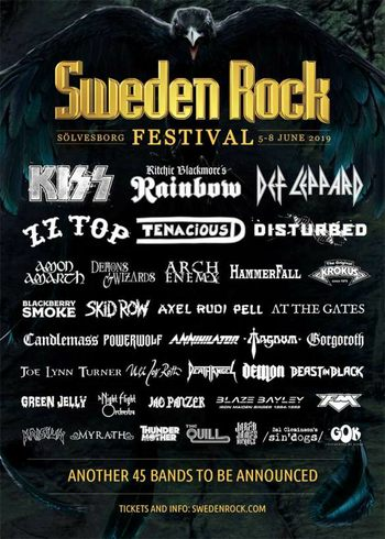 FM at Sweden Rock Festival - June 2019 - poster