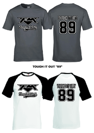 """Tough It Out 89"" T-shirt and Baseball T-shirt"